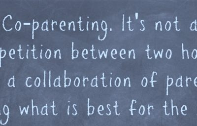 co parenting chalk board quotation image