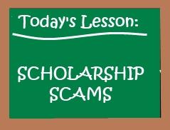 scholarship scam chalkborad